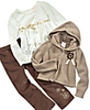 Nannette Kids Outfit, Little Girls Hoodie, Tee and Pants